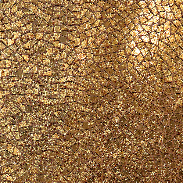 Cosmique, a handmade mosaic shown in 24K Gold Glass, is part of the Aurora® collection by New Ravenna.