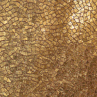 Cosmique, a handmade mosaic shown in 24K Gold Glass,  is part of the Aurora™ Collection by Sara Baldwin for New Ravenna.