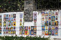 RIO DE JANEIRO,RJ, 05.01.2019 - COTIDIANO-RJ - Cenas do dia. Painel de mosaicos em homenagem ao Bonde de Santa Tereza, feito pelos artistas moradores do bairro de Santa Tereza,  Rio de Janeiro (05) (Foto: Vanessa Ataliba/Brazil Photo Press)