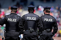 The Penn police were out in force Thursday at the 2013 Penn Relays with heightened security due to the recent bombing at the Boston Marathon.