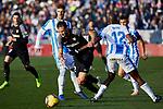 CD Leganes' Allan Romeo Nyom and Sevilla FC's Franco Damian Vazquez during La Liga match between CD Leganes and Sevilla FC at Butarque Stadium in Leganes, Spain. December 23, 2018. (ALTERPHOTOS/A. Perez Meca)