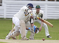Sridharan Sriram bats for South Hampstead during the Middlesex County Cricket League Division Three game between North London and South Hampstead at Park Road, Crouch End on Sat June 21, 2014.
