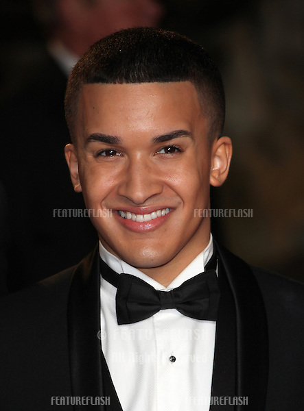 Jahmene Douglas from X Factor arriving for the Royal World Premiere of 'Skyfall' at Royal Albert Hall, London. 23/10/2012 Picture by: Alexandra Glen / Featureflash