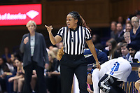 DURHAM, NC - JANUARY 26: Official Talisa Green during a game between Georgia Tech and Duke at Cameron Indoor Stadium on January 26, 2020 in Durham, North Carolina.
