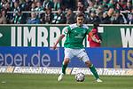 13.04.2019, Weser Stadion, Bremen, GER, 1.FBL, Werder Bremen vs SC Freiburg, <br /> <br /> DFL REGULATIONS PROHIBIT ANY USE OF PHOTOGRAPHS AS IMAGE SEQUENCES AND/OR QUASI-VIDEO.<br /> <br />  im Bild<br /> <br /> Max Kruse (Werder Bremen #10)<br /> Einzelaktion, Ganzkörper / Ganzkoerper<br /> <br /> Foto © nordphoto / Kokenge