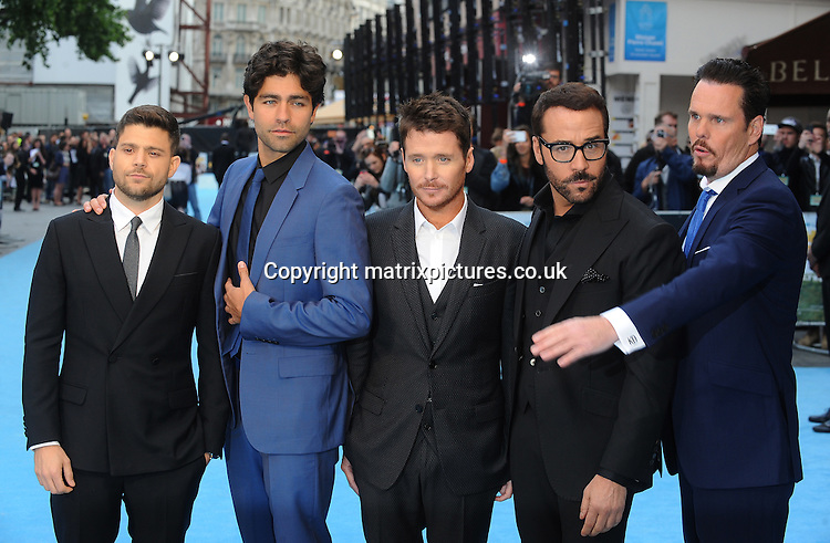 NON EXCLUSIVE PICTURE: PAUL TREADWAY / MATRIXPICTURES.CO.UK<br /> PLEASE CREDIT ALL USES<br /> <br /> WORLD RIGHTS<br /> <br /> American actors Jerry Ferrara, Adrian Grenier, Kevin Connolly, Jeremy Piven and Kevin Dillon attending the European Premiere of Entourage at Vue West End, in London.<br /> <br /> JUNE 9th 2015<br /> <br /> REF: PTY 151850