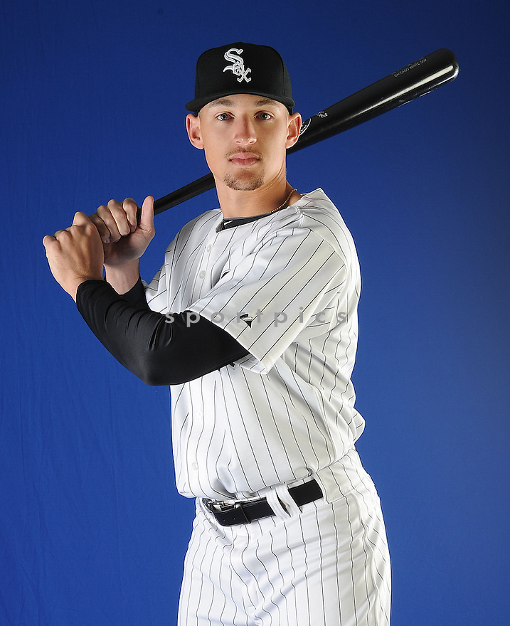 Chicago White Sox Trayce Thompson (75) at media photo day on February 19, 2013 during spring training in Glendale, AZ.