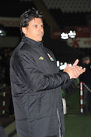 Swansea, Wales. Tuesday 26th March 2013. Wales manager Chris Coleman during the Wales v Croatia 2014 World Cup Brasil Group A qualfying match. Mandatory credit for pictures used to-Jeff Thomas Photography-www.jaypics.photoshelter.com-07837 386244