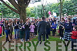 The remembrance ceremony organised by the Open Arms Project in Pearse Park, Tralee on Monday..