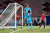 ATENÇÃO EDITOR: FOTO EMBARGADA PARA VEÍCULOS INTERNACIONAIS - RECIFE,PE,10 SETEMBRO 2012 - AMISTOSO SELEÇÃO BRASILEIRA - BRASIL X CHINA -Davi Luis jogador do Brasil duarnte partida Brasil x China no Estádio Arruda em Recife na noite desta segunda feira (10).(FOTO ALE VIANNA - BRAZIL PHOTO PRESS).