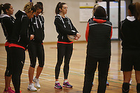 29.08.2016 Silver Ferns Bailey Mes train and have a weights workout in Hamilton. Mandatory Photo Credit ©Michael Bradley.