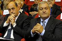 Nicola Zingaretti,Presidente della provincia Francesco Florenzano, presidente Upter.Inaugurazione XXIV anno accademico dell'università popolare di Roma.