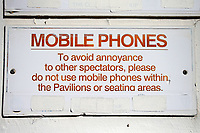 Mobile Phones signage during Worcestershire CCC vs Essex CCC, Specsavers County Championship Division 1 Cricket at Blackfinch New Road on 12th May 2018