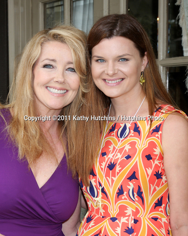 LOS ANGELES - APR 2:  Meldoy Thomas Scott, Heather Tom at the Baby Shower for Jennifer Scott at Ed & Melody Thomas Scott's Home on April 2, 2011 in Beverly Hills, CA