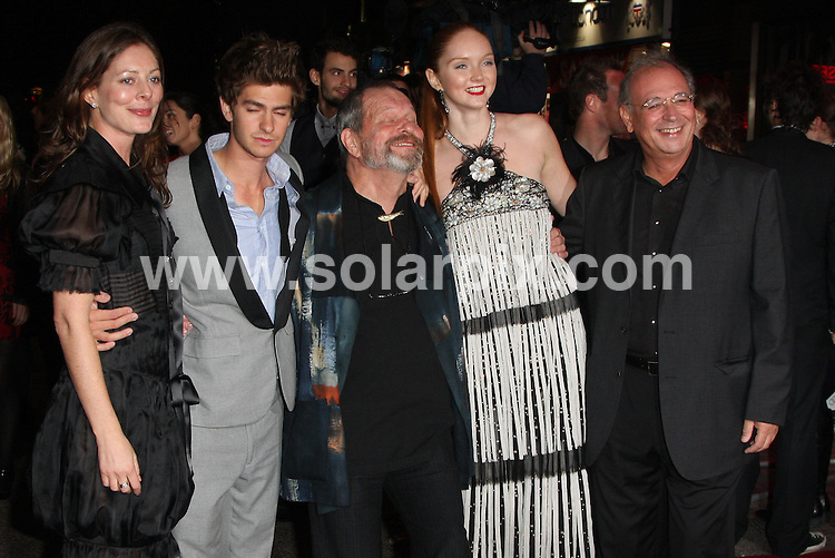 "**ALL ROUND PICTURES FROM SOLARPIX.COM**.**WORLDWIDE SYNDICATION RIGHTS**.The UK Premiere of ""The Imaginarium of Doctor Parnassus"" at the Empire Cinema in Leicester Square, London on Tuesday 6 October 2009.This pic:   L-R Amy Gilliam, Andrew Garfield, Terry Gilliam and Lily Cole.JOB REF:  10074   LNJ     DATE:  07.10.09.**MUST CREDIT SOLARPIX.COM OR DOUBLE FEE WILL BE CHARGED**.**MUST NOTIFY SOLARPIX OF ONLINE USAGE**.**CALL US ON: +34 952 811 768 or LOW RATE FROM UK 0844 617 7637**"