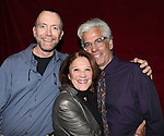 Actor Mike O'Neil, Linda Lavin and Director Steve Bakunas at The Red Barn Studio Theatre Off-Broadway production of 'Positions' at the Roy Arias Studio Theatre on October 10, 2012 in New York.