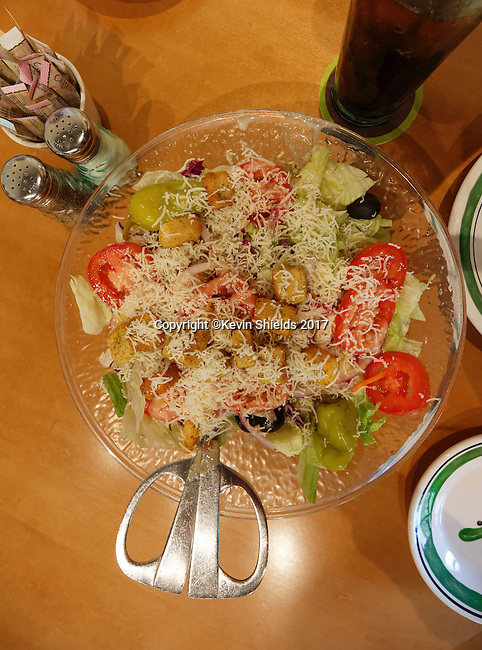 Salad at a restaurant, Augusta, Maine, USA