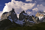 Soaring peaks of Cuernos del Paine, in Torres del Paine National Park, Chile.