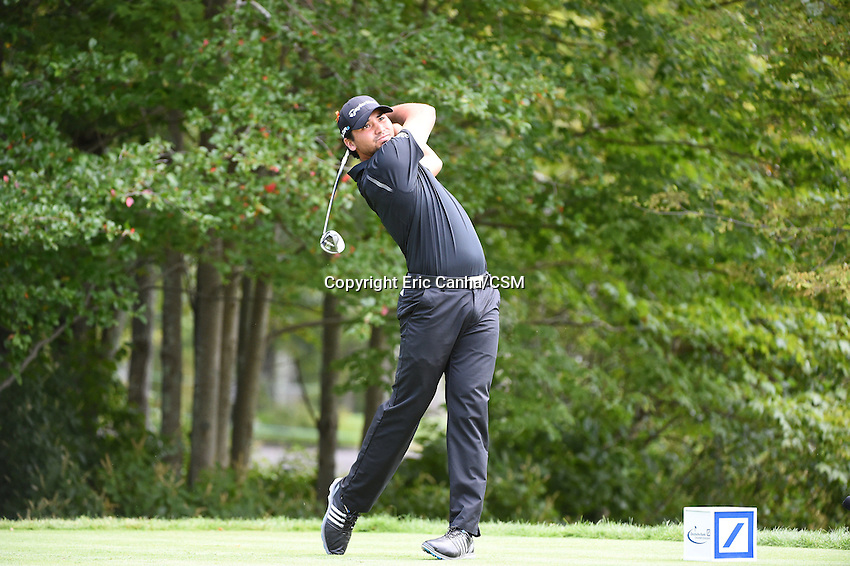 August 29, 2014 -  Norton, Mass. - Jason Day tees off from the 4th tee box during the first round of the PGA Deutsche Bank Championship held at the Tournament Players Club in Norton Massachusetts. Eric Canha/CSM