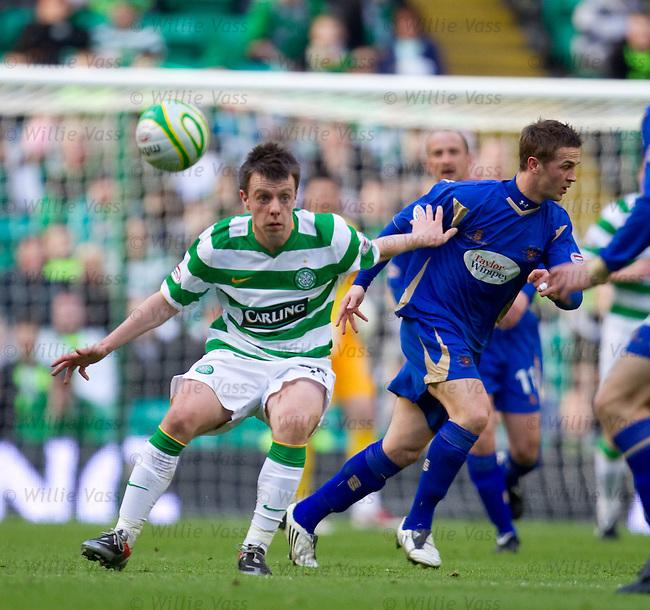 Paul McGowan battling for the ball