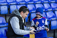 Preparing the Autograph book during Ipswich Town vs Preston North End, Sky Bet EFL Championship Football at Portman Road on 3rd November 2018