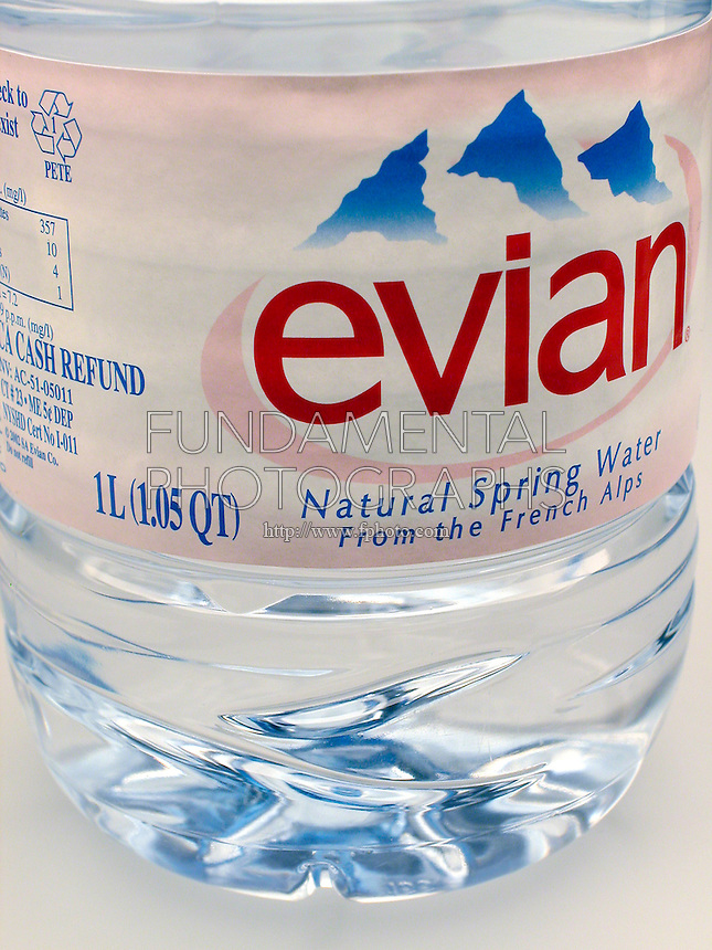 METRIC CONVERSION ON EVIAN WATER BOTTLE<br />