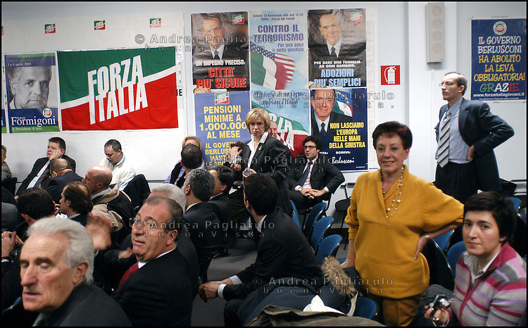 Milano, sede Forza Italia in viale Monza. <br /> Milan, Forza Italia headquarters.