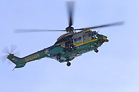 Feb 12, 2016; Pomona, CA, USA; A Los Angeles County Sheriff department rescue helicopter flies over the NHRA Winternationals at Auto Club Raceway at Pomona. Mandatory Credit: Mark J. Rebilas-USA TODAY Sports