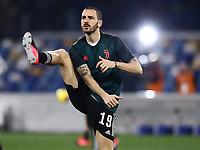 26th January 2020; Stadio San Paolo, Naples, Campania, Italy; Serie A Football, Napoli versus Juventus;  Leonardo Bonucci of Juventus  pre-game warm up