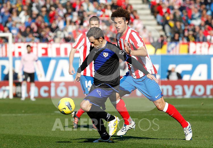 Madrid (04/12/2011).- Estadio Vicente Calderon..LIGA BBVA 15ª Jornada.Atletico de Madrid - Rayo Vallecano..Tamudo, M. Suarez.......