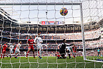 Nacho Fernandez of Real Madrid (C) scores during the La Liga 2017-18 match between Real Madrid and Sevilla FC at Santiago Bernabeu Stadium on 09 December 2017 in Madrid, Spain. Photo by Diego Souto / Power Sport Images