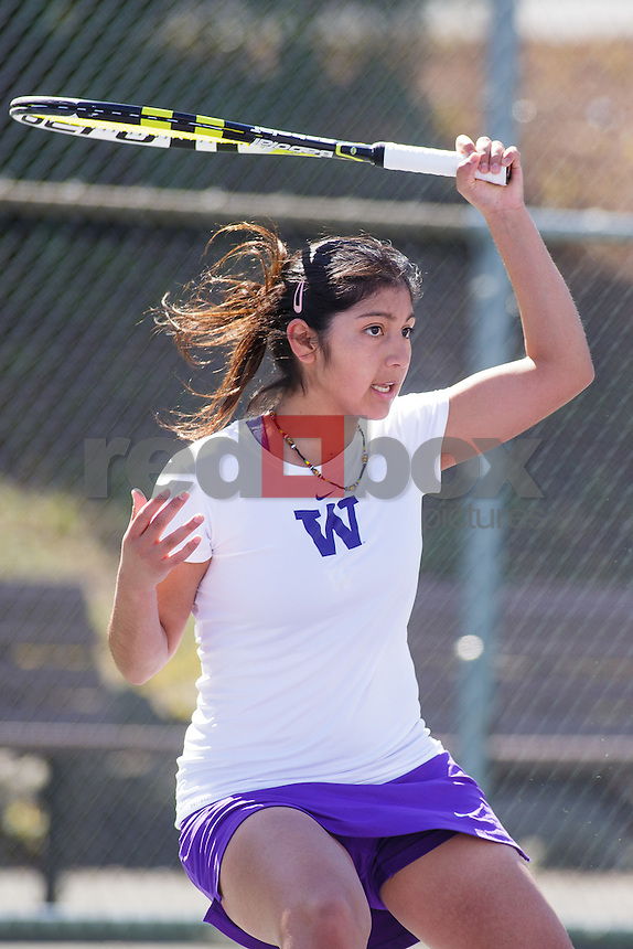 Natali Coronel-University of Washington Huskies women's tennis team takes on the University of Utah Utes in Seattle Saturday, April 7, 2012. (Photos by Andy Rogers/Red Box Pictures)