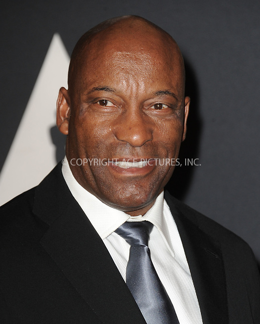 WWW.ACEPIXS.COM<br /> <br /> November 14 2015, LA<br /> <br /> John Singleton arriving at the Academy of Motion Picture Arts and Sciences' 7th Annual Governors Awards at The Ray Dolby Ballroom at the Hollywood &amp; Highland Center on November 14, 2015 in Hollywood, California<br /> <br /> <br /> By Line: Peter West/ACE Pictures<br /> <br /> <br /> ACE Pictures, Inc.<br /> tel: 646 769 0430<br /> Email: info@acepixs.com<br /> www.acepixs.com