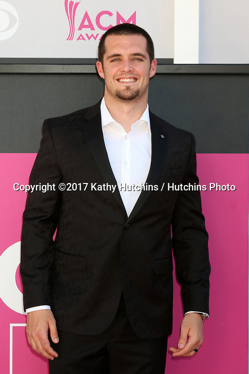 LAS VEGAS - APR 2:  Derek Carr at the Academy of Country Music Awards 2017 at T-Mobile Arena on April 2, 2017 in Las Vegas, NV