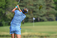 Lexi Thompson (USA) hits her approach shot on 8 during round 4 of the 2018 KPMG Women's PGA Championship, Kemper Lakes Golf Club, at Kildeer, Illinois, USA. 7/1/2018.<br /> Picture: Golffile | Ken Murray<br /> <br /> All photo usage must carry mandatory copyright credit (&copy; Golffile | Ken Murray)