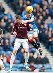 22.04.2018 Rangers v Hearts: Kyle Lafferty and Ross McCrorie