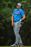 Brandon Harkins (USA) watches his tee shot on 14 during Round 3 of the Valero Texas Open, AT&amp;T Oaks Course, TPC San Antonio, San Antonio, Texas, USA. 4/21/2018.<br /> Picture: Golffile   Ken Murray<br /> <br /> <br /> All photo usage must carry mandatory copyright credit (&copy; Golffile   Ken Murray)