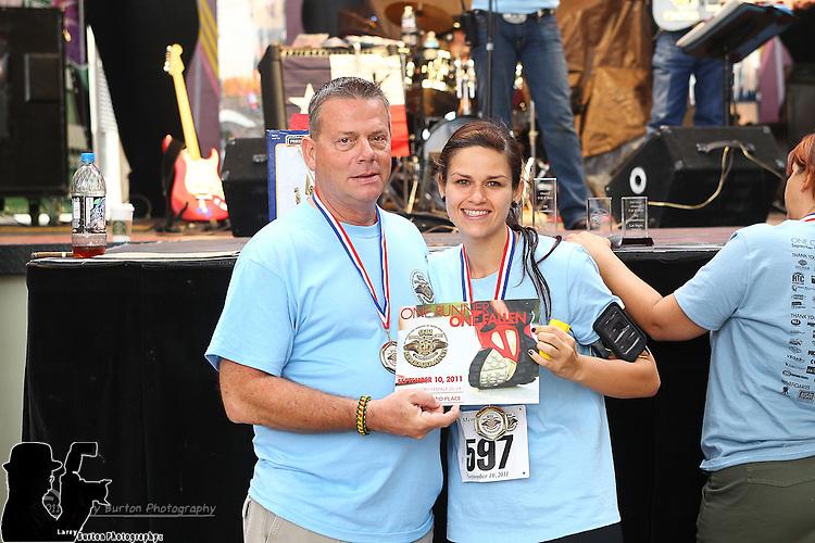 911 remembering run walk on Fremont Street in Las Vegas