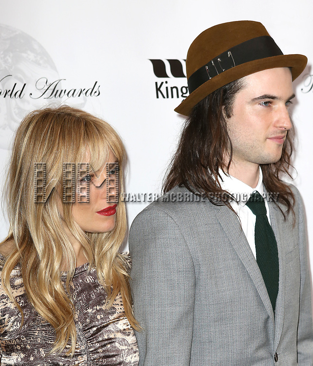 Sienna Miller, Tom Sturridge attending the 69th Annual Theatre World Awards at the Music Box Theatre in New York City on June 03, 2013.