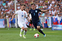 Albert Rusnak of Slovakia and Ben Chilwell of England during Slovakia Under-21 vs England Under-21, UEFA European Under-21 Championship Football at The Kolporter Arena on 19th June 2017