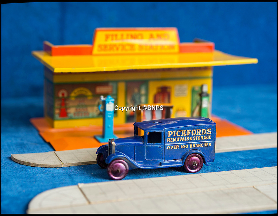 BNPS.co.uk (01202 558833)<br /> Pic: PhilYeomans/BNPS<br /> <br /> Pickfords removals.<br /> <br /> Dinky dynamite...<br /> <br /> The first two sets of Dinky Toys ever made have sold for almost &pound;50,000 in a landmark auction.<br /> <br /> In a sale the likes of which has never been seen before, the 12 ultra-rare Dinky Toys from 1933 were snapped up by a private collector for almost twice their estimate.<br /> <br /> Experts at Special Auction Services in Newbury, Berks, had tipped the two boxes of six delivery vans to fetch &pound;15,000 each but after fierce bidding they sold for &pound;20,000 and &pound;19,000 respectively.<br /> <br /> With sale room fees and VAT added the total was &pound;46,000.