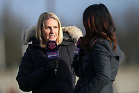 Ex-Arsenal and England player Kelly Smith during Arsenal Women vs Bristol City Women, Barclays FA Women's Super League Football at Meadow Park on 1st December 2019
