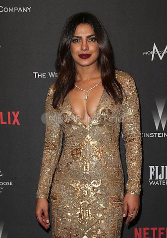 BEVERLY HILLS, CA - JANUARY 08: Priyanka Chopra at The Weinstein Company and Netflix Golden Globe Party at The Beverly Hilton Hotel on January 8, 2017 in Beverly Hills, California. Credit: Faye Sadou/MediaPunch