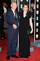 Sir Patrick Stewart &amp; Sunny Ozell arriving for the BAFTA Film Awards 2018 at the Royal Albert Hall, London, UK. <br /> 18 February  2018<br /> Picture: Steve Vas/Featureflash/SilverHub 0208 004 5359 sales@silverhubmedia.com