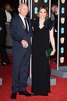 Sir Patrick Stewart & Sunny Ozell arriving for the BAFTA Film Awards 2018 at the Royal Albert Hall, London, UK. <br /> 18 February  2018<br /> Picture: Steve Vas/Featureflash/SilverHub 0208 004 5359 sales@silverhubmedia.com