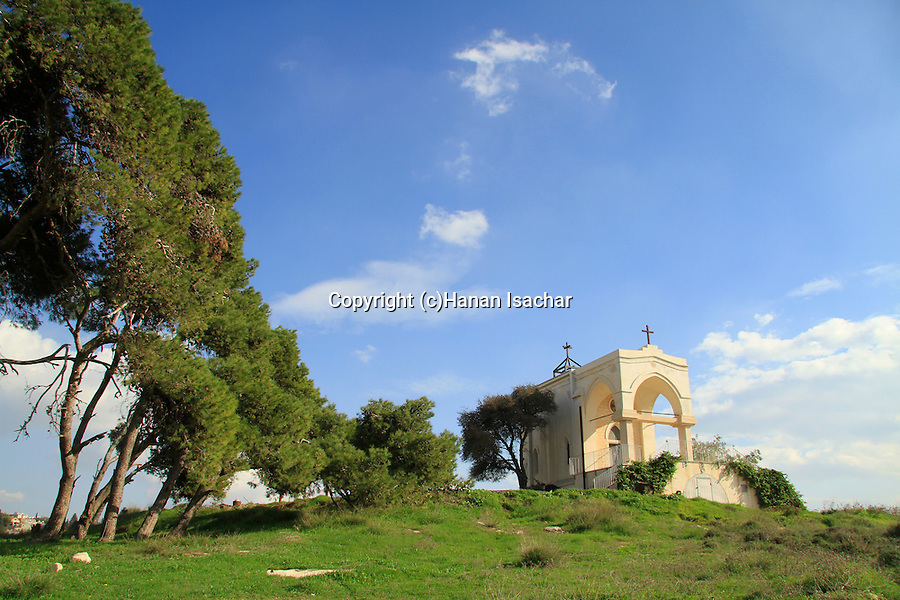 "Israel, Nazareth, the Franciscan ""Mary's Fear"" church, on a hill called ""Fear Mountain"""
