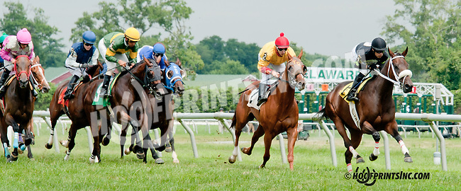 Defeet R Fleet winning at Delaware Park on 7/25/13