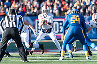 Annapolis, MD - DEC 28, 2017: Virginia Cavaliers quarterback Kurt Benkert (6) in the pocket during game between Virginia and Navy at the Military Bowl presented by Northrop Grunman at Navy-Marine Corps Memorial Stadium Annapolis, MD. (Photo by Phil Peters/Media Images International)