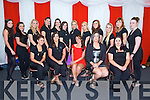 Kerry ETB Hair and Beauty Dept.  Sonia O'Shea, Jodie Sheehy, Tara O'Halloran Cronin, Sinead Walsh, Bernadette Casey.  Back left to right, Michelle Counihan, Niamh Stack, Caoimhe Finnegan, Norelle Lobez, Louise O'Connor, Louise O'Connor, Michelle Mangan, Shona Breen, Tara Hyne, Orla Fitzgerald, Orla Foley, Mairead Clifford, Tracy Clifford at the Austin Stacks Strictly come Dancing Finals at the Rose Dome on Saturday