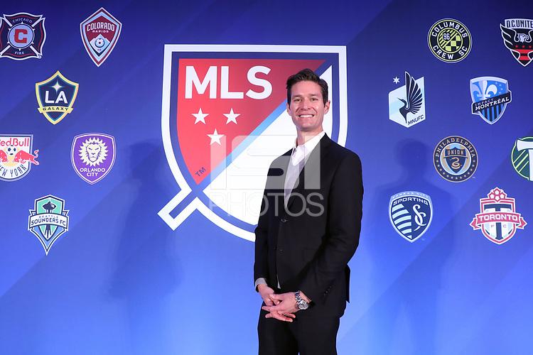 Philadelphia, PA - Thursday January 18, 2018: MLS Executive Vice President, Communications Dan Courtemanche. The 2018 MLS League Meetings were held at the Philadelphia Marriott Downtown.